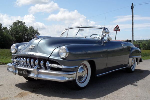 1951 desoto custom convertible front view left